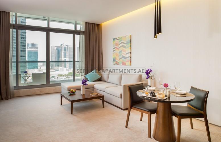 Furnished 1-Bedroom Hotel Apartment in Intercontinental Dubai Marina