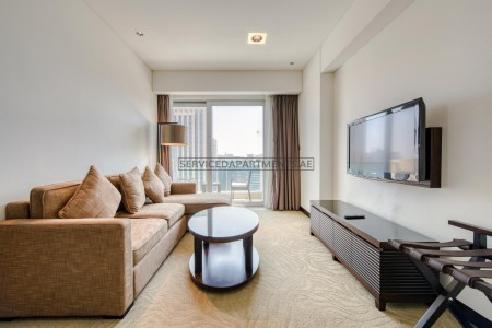 Furnished 1 Bedroom Hotel Apartment in The Address Dubai Marina Residences
