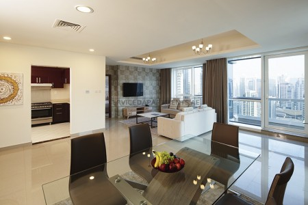 Furnished 2 Bedroom Hotel Apartment in Barcelo Residences Dubai Marina