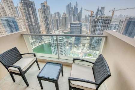 Furnished 2 Bedroom Hotel Apartment in The Address Dubai Marina Residences