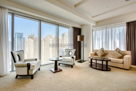 Furnished 3 Bedroom Hotel Apartment in The Address Dubai Marina Residences