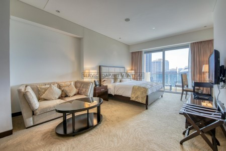 Furnished Studio Hotel Apartment in The Address Dubai Marina Residences