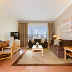 Furnished 1 Bedroom Hotel Apartment in Crowne Plaza Dubai