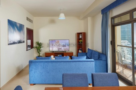 Furnished 1 Bedroom Hotel Apartment in Roda Amwaj Suites