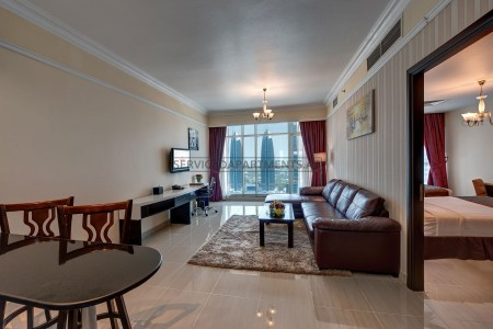 Furnished 2 Bedroom Hotel Apartment in Emirates Grand Hotel Apartments