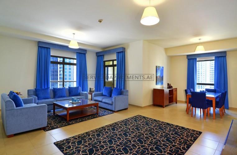 Furnished 2 Bedroom Hotel Apartment in Roda Amwaj Suites