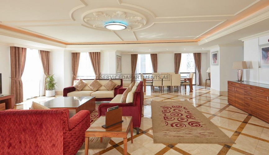 Furnished 3 Bedroom Hotel Apartment in Roda Amwaj Suites