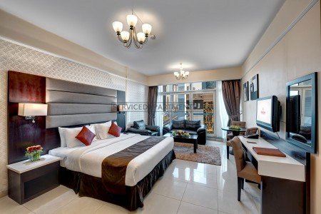 Furnished Studio Hotel Apartment in Emirates Grand Hotel Apartments