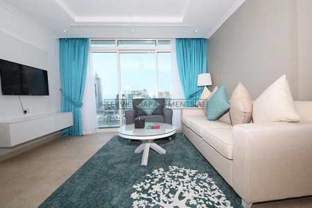 Furnished 1 Bedroom Hotel Apartment in Jannah Marina Bay Suites