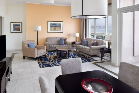 Furnished 2 Bedroom Hotel Apartment in Dubai Marriott Harbour Hotel & Suites