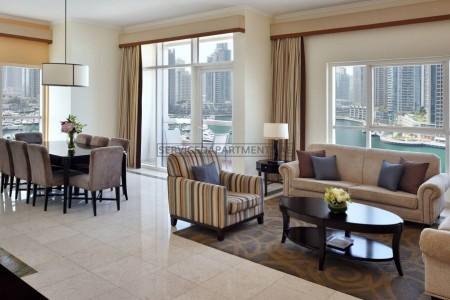 Furnished 3 Bedroom Hotel Apartment in Dubai Marriott Harbour Hotel & Suites