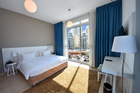 Furnished Studio Hotel Apartment in Jannah Place Dubai Marina