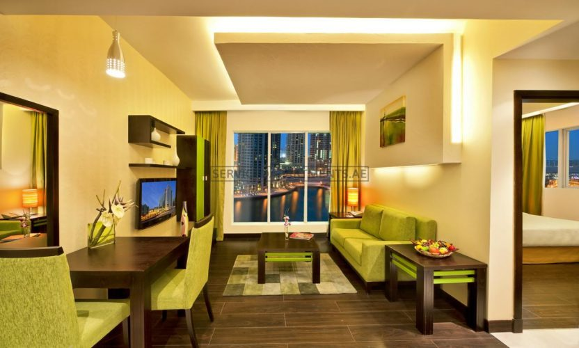 Furnished 1-Bedroom Hotel Apartment in Marina View Deluxe Hotel Apartment