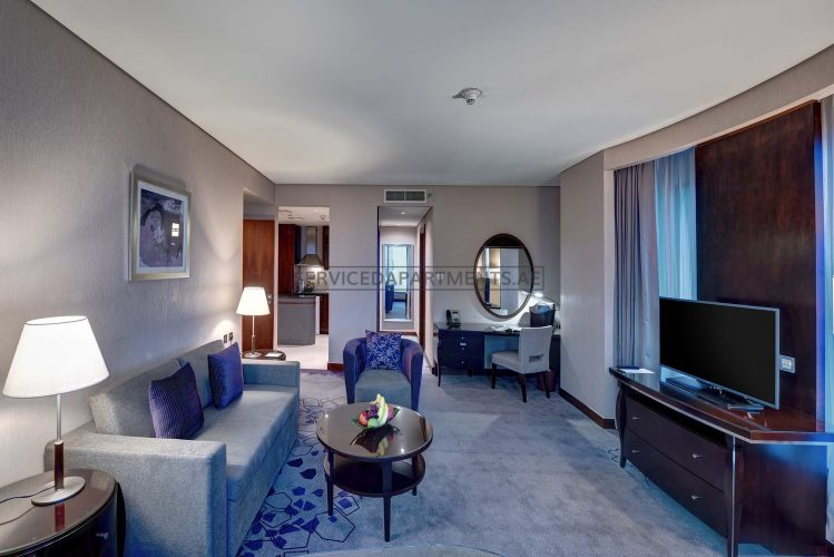 Furnished 1 Bedroom Hotel Apartment in Rose Rayhaan by Rotana