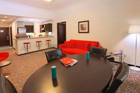 Furnished 1-Bedroom Hotel Apartment in MENA ApartHotel Albarsha