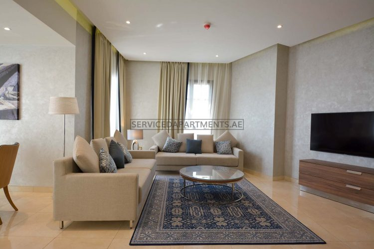 Furnished 1-Bedroom Hotel Apartment in The Suha Park
