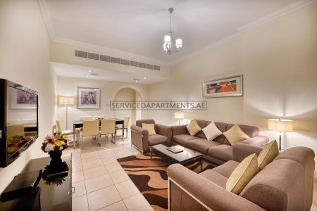 Furnished 2-Bedrooms Hotel Apartment in Pearl Marina Hotel Apartments