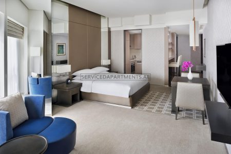 Furnished Studio Hotel Apartment in Hyatt Regency Dubai Creek Heights