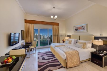 Furnished Studio Hotel Apartment in Pearl Marina Hotel Apartments