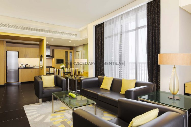 Furnished 1-Bedroom Hotel Apartment in Hala Arjaan by Rotana