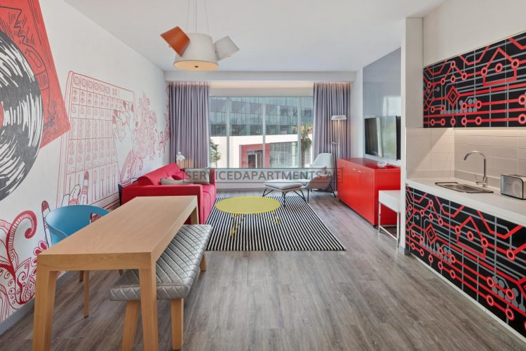 Furnished 1-Bedroom Hotel Apartment in Radisson RED Hotel DSO