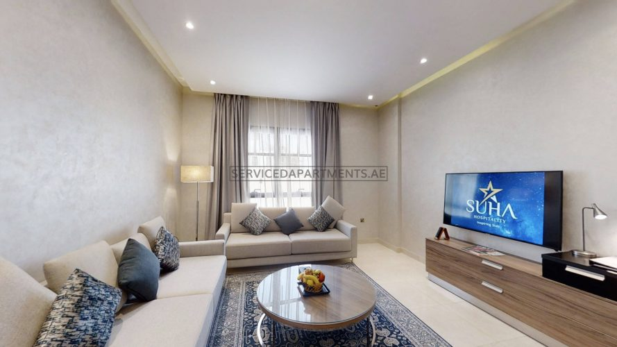 Furnished 1-Bedroom Hotel Apartment in The Suha Creek