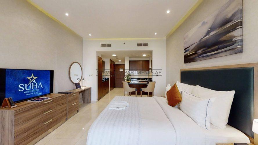 Furnished Studio Hotel Apartment in The Suha Creek