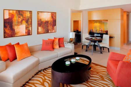 Furnished 2-Bedrooms Hotel Apartment in Marriott Executive Apartments Al Jaddaf