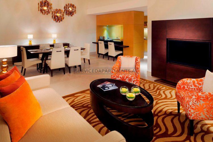 Furnished 3-Bedrooms Hotel Apartment in Marriott Executive Apartments Al Jaddaf