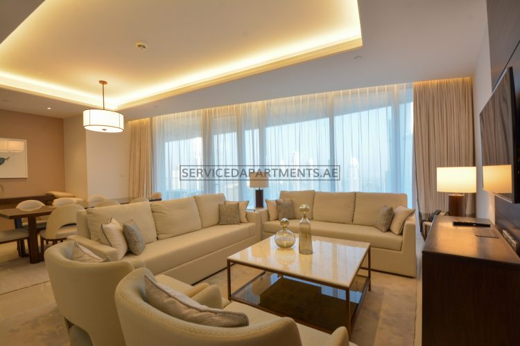 Furnished 3-Bedrooms Hotel Apartment in The Address Sky Views Residences