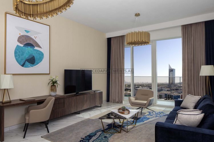Furnished 1-Bedroom Hotel Apartment in Avani Palm View Dubai Hotel & Suites