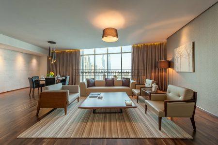 Furnished 4-Bedrooms+ Hotel Apartment in Intercontinental Dubai Marina