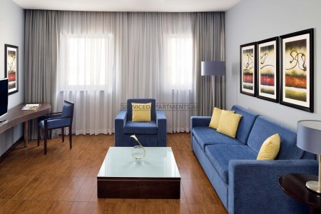 Furnished 1-Bedroom Hotel Apartment in Movenpick Hotel & Apartments