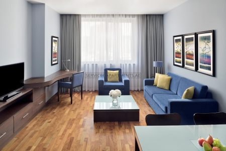 Furnished 2-Bedrooms Hotel Apartment in Movenpick Hotel & Apartments