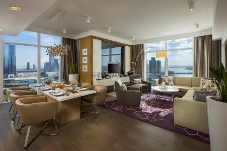 Furnished 3-Bedrooms Hotel Apartment in Beach Rotana Residences