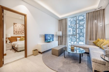 Furnished 1-Bedroom Hotel Apartment in Grand Mercure Hotel And Residences Dubai Airport