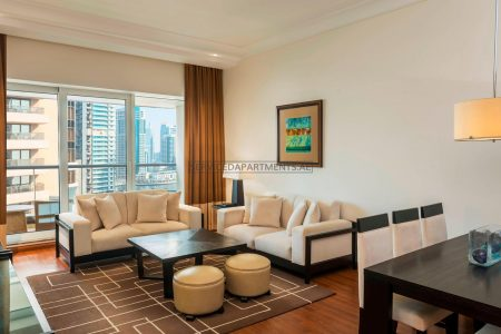 Furnished 3-Bedrooms Hotel Apartment in Grosvenor House Dubai
