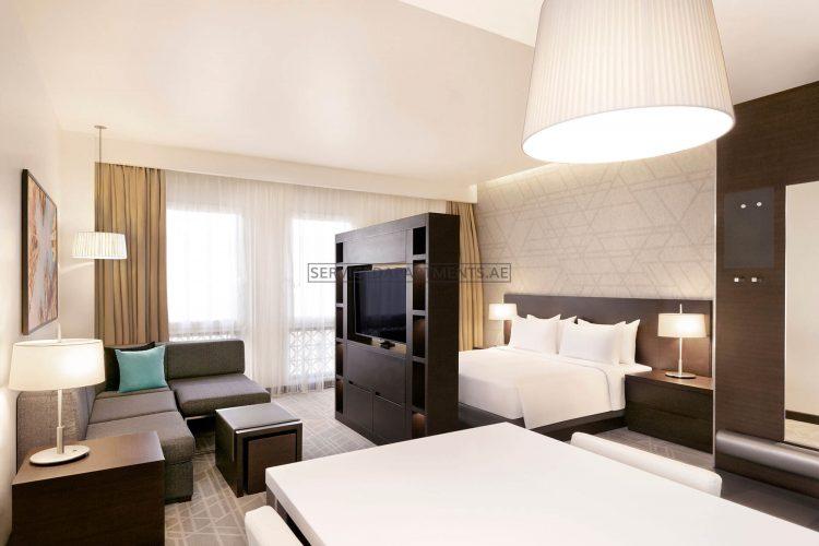 Furnished Studio Hotel Apartment in Hyatt Place Dubai Wasl District Residences