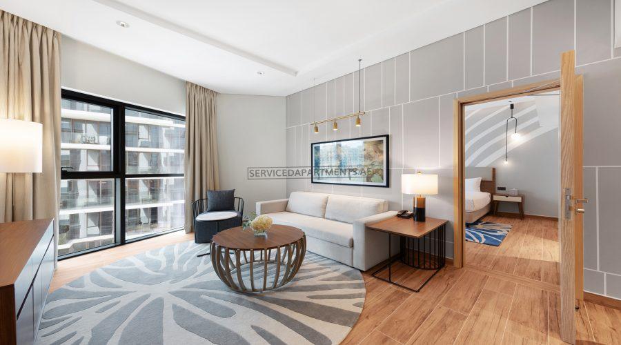 Furnished 1BR Hotel Apartment in Adagio Premium The Palm