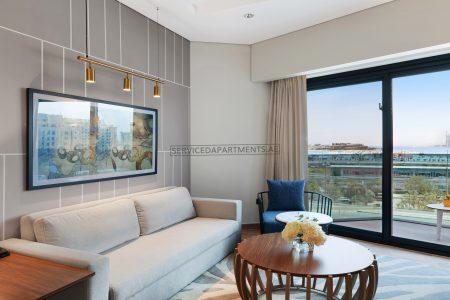 Furnished 1BR Balcony Hotel Apartment in Adagio Premium The Palm