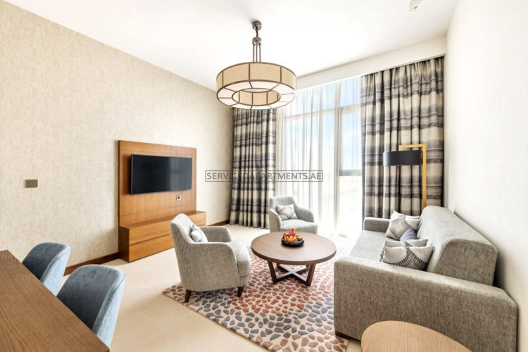 Furnished 2 Bedroom Hotel Apartment in Staybridge Suites Dubai Al Maktoum